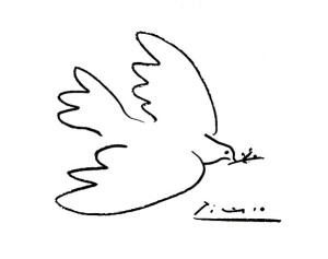 a sketch of a dove by Picasso